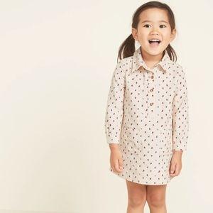 OLD NAVY • Pop-over floral corduroy shirt dress